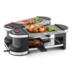 Klarstein Tenderloin grill mini-raclette 600 W 360°podstawa 2 gorące kamienie