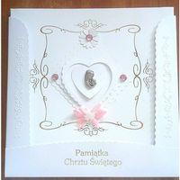 Albumy, Pamiątka Chrztu Świętego - różowa (duża)