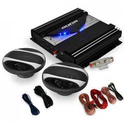 """Auna Car Hifi Set """"Black Line 200"""" głośniki końcówka mocy 1400 W"""
