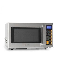 Klarstein Bestzeit 25, kuchenka mikrofalowa, 1000 W, 25 l, minutnik, 3 poziomy wydajności, stal nierdzewna