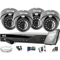 Zestawy monitoringowe, 4x BCS-B-MK22800 1920x1080 FullHD BCS Basic zestaw do monitoringu Dysk 1TB Akcesoria