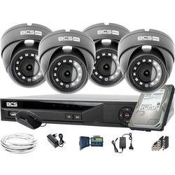 4x BCS-B-MK42800 2560×1440 4MPx BCS Basic zestaw do monitoringu Dysk 1TB Akcesoria