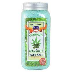 Sól do kąpieli z olejkiem konopnym i mentolem 900g.