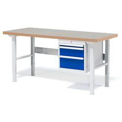 Stół warsztatowy Solid, zestaw z 3 szufladami, 500 kg, 1500x800 mm, winyl