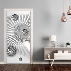 Fototapeta na drzwi - Tapeta na drzwi - Czarno-biała abstrakcja bogata chata