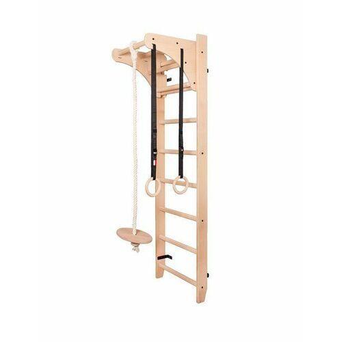 Sprzęt do gimnastyki, Drabinka gimnastyczna drewniana z drążkiem i akcesoriami 112 BenchK 220 x 67 cm - BenchK-112