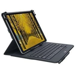 Logitech Universal - tastatur og folio-kasse - UK QWERTY - Etui z klawiaturą - Czarny