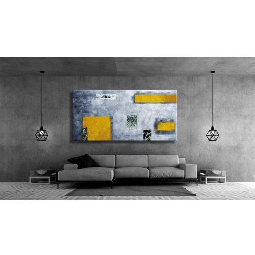 Obrazy, Idealny dla miłośników nowoczesności duży obraz na ścianę do salonu - Żółć i popiel rabat 10%