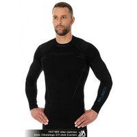 Pozostała odzież sportowa, Brubeck Bluza męska termoaktywna czarna Thermo LS13040