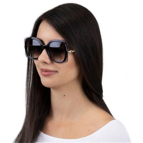 Okulary przeciwsłoneczne, Okulary damskie przeciwsłoneczne kwadratowe szare