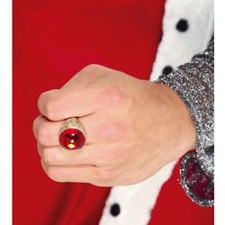 Złoty sygnet, pierścień z rubinem