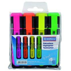 Zakreślacz fluorescencyjny DONAU D-Text, 1-5mm (linia), 4szt., mix kolorów