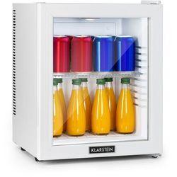 Klarstein Brooklyn 24 White, minilodówka, klasa efektywności energetycznej A, drzwi szklane, LED, półka, biała