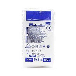 Kompresy z wkniny Matovlies niejałowe 5x5cm, 30g -100 szt.