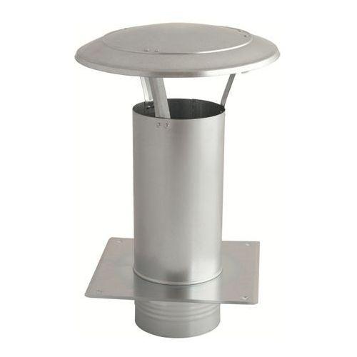 Akcesoria do dachów, Daszek wywietrznikowy (wywietrzak) 100mm z podstawą (WDA100-OC)
