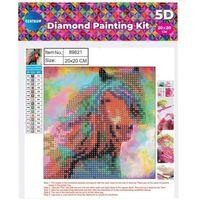 Pozostałe artykuły szkolne, Mozaika diamentowa 5D 20x20cm Horse 89621