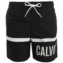 Calvin Klein Swimwear MEDIUM DRAWSTRING STREIFEN Szorty kąpielowe black