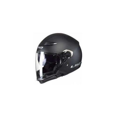 Kaski motocyklowe, KASK LS2 OF569 SCAPE MATT BLACK WYPINANA SZCZĘKA
