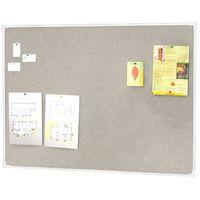 Tablice i flipcharty, Tablica informacyjna, 3000x1200 mm, jasnoszary, aluminium