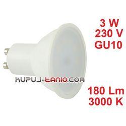 Żarówka LED 3W, 230V, gwint GU10, barwa biała ciepła