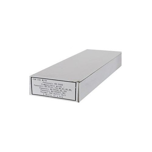 Papiery i folie do drukarek, Zgodna Folia do Panasonic FAX KX FP80 / KX FPC91 / KX FPC152 / KX FPC168 / KX FPG175 / KX FPG372 | Black | 50m. FP55A 2 ROLL OM