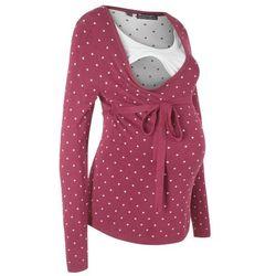 Sweter ciążowy /do karmienia piersią bonprix czerwony rododendron w kropki
