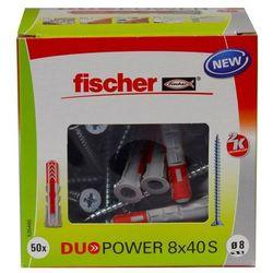 Kołek uniwersalny Fischer Duopower 8 x 40 z wkrętem 50 szt.