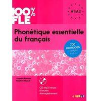 Pozostałe książki, 100% FLE - Phonétique essentielle du français A1/A2, m. MP3-CD (opr. miękka)