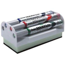 Zestaw do tablic suchościeralnych Pentel MWL5S (4 markery+ścierak)