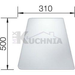 Deska kuchenna do krojenia BLANCO 500x310mm Szkło hartowane białe (224510)