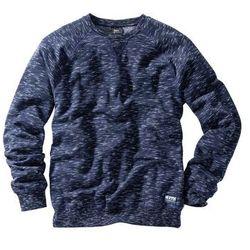 Bluza z reglanowymi rękawami Regular Fit bonprix ciemnoniebieski melanż
