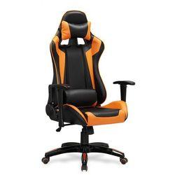 WYPRZEDAŻ - Fotel DEFENDER czarno/pomarańczowy