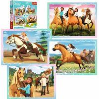 Puzzle, Puzzle 4w1 Spirit Riding Free, Popołudniowa przejażdżka