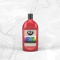 Wosk samochodowe, COLOR MAX 500 CZERWONY wosk koloryzujący nabłyszcza i chroni - 500ml
