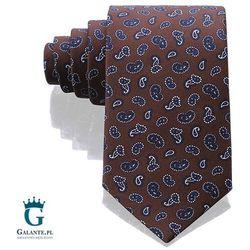 Brązowy włoski krawat jedwabny Arcuri 14848/5