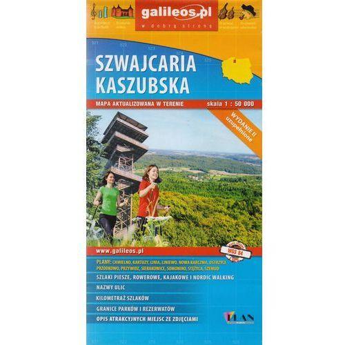 Mapy i atlasy turystyczne, Szwajcaria Kaszubska mapa 1:50 000 Plan (opr. broszurowa)