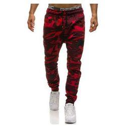 Spodnie joggery męskie moro-czerwone Denley 0829