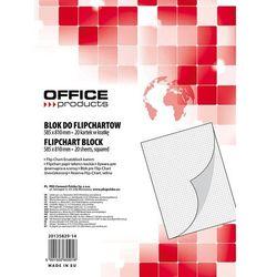 Blok flipchart OFFICE PRODUCTS, kratka, 58,5x81cm, 20 kart., biały