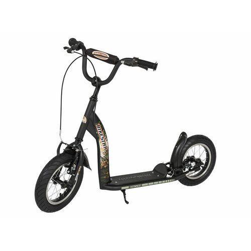 """Hulajnogi, Hulajnoga dla dzieci pompowane koła 12"""" BikeStar kolor czarny"""