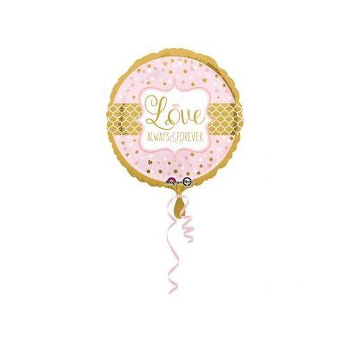Pozostałe na ślub i wesele, Balon foliowy Love Always & Forever - 43 cm - 1 szt.
