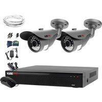 Zestawy monitoringowe, Zestaw do monitoringu 2 kamery HD 1MPx LV-AL20MT Rejestrator LV-XVR44N Chmura Akcesoria