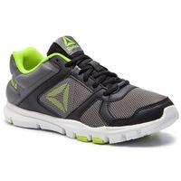 Buty sportowe dla dzieci, Buty Reebok - Yourflex Train 10 CN8603 Black/Alloy/Neon Lime