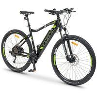 Rowery elektryczne, Rower elektryczny INDIANA E-MTB 2.0 M21 Czarno-zielony + Zamów z DOSTAWĄ JUTRO!