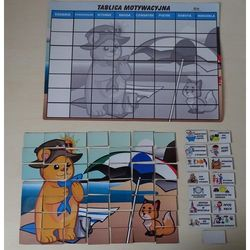 Magnetyczna tablica motywacyjna Morska Przygoda w formie puzzli MAGNETYCZNA TABLICA MOTYWACYJNA MORSKA PRZYGODA PUZZLE