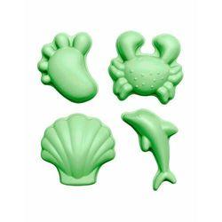 Funkit world - Silikonowe Foremki do piasku 4 szt. Scrunch - Pastelowy Zielony