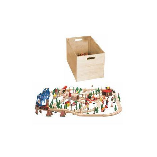Kolejki i tory dla dzieci, WOODYLAND Kolejka, zest. w pudełku