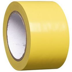Taśma do znakowania podłoża z winylu, jednokolorowa, szer. 75 mm, żółta, opak. 1
