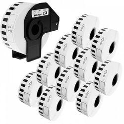 Zestaw taśma Brother DK-22210 1 + 10 29mm x 30.48m do drukarki etykiet QL - zamiennik |OSZCZĘDZAJ DO 80% - ZADZWOŃ! 730811399