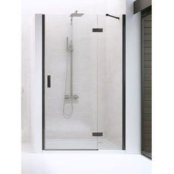 New Trendy drzwi wnękowe New Renoma Black 120 prawe, wys. 195 cm, czyste szkło D-0200A