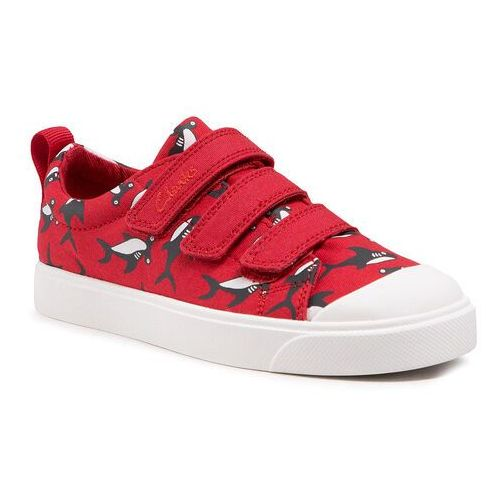 Buty sportowe dla dzieci, Trampki CLARKS - City Vibe K 261564367 Red/Black